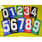 Go kart number stickers