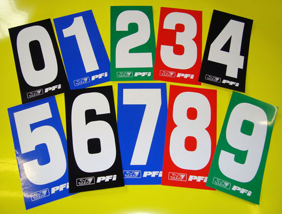 Kart number stickers