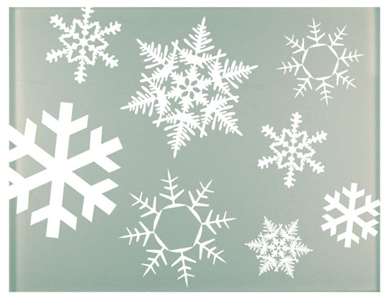 snowflake self cling vinyls